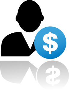 image of client and a dollar sign