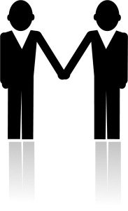 image of two clients holding hands